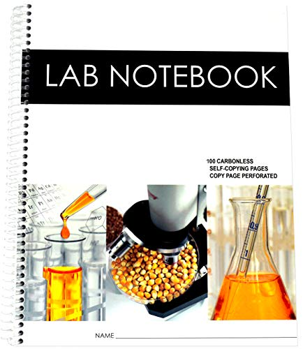 Lab Notebook 100 Carbonless Pages Spiral Bound: Barbakam