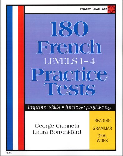 180 Practice Tests For French (French Edition): George Giannetti