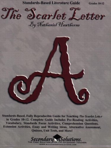9780978920456: Scarlet Letter Teaching Guide - Literature unit of lessons for teaching the novel The Scarlet Letter in Grades 9-12
