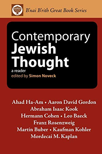 Contemporary Jewish Thought: A Reader: Ahad Ha-Am; Aaron