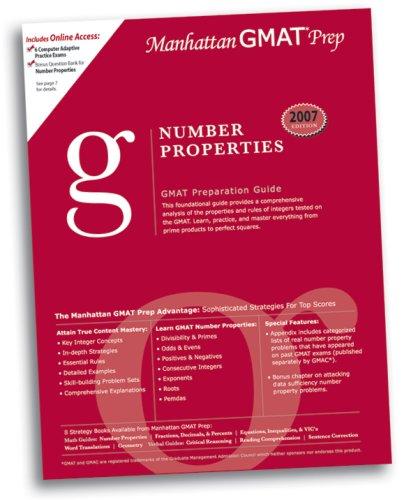 Number Properties GMAT Preparation Guide (Manhattan GMAT: Manhattan Gmat Prep