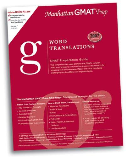 9780979017537: Word Translations GMAT Preparation Guide (Manhattan GMAT Preparation Guide: Sentence Correction)