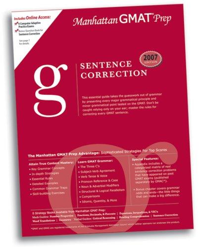Sentence Correction GMAT Preparation Guide (Manhattan GMAT: Manhattan GMAT Prep