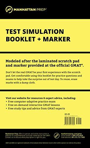9780979017582: Manhattan GMAT Test Simulation Booklet w/ Marker