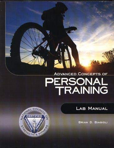 9780979169625: Advanced Concepts of Personal Training Lab Manual