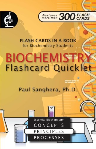 9780979179792: Biochemistry Flashcard Quicklet: Flash Cards in a Book for Biochemistry Students