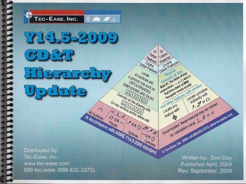 9780979278150: Y14.5-2009 GD&T Hierarchy Update (The Hierarchy of Geometric Dimensioning and Tolerancing Series)
