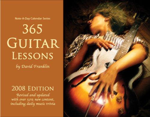 9780979303548: 365 Guitar Lessons: 2008 Note-A-Day Calendar for Guitar