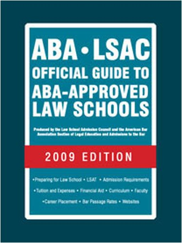 9780979305023: ABA-LSAC Official Guide to ABA-Approved Law Schools 2009 (Aba Lsac Official Guide to Aba Approved Law Schools)
