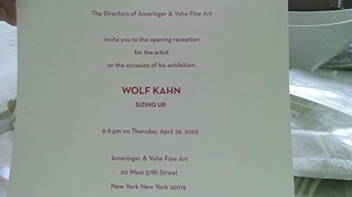 Wolf Kahn: Sizing Up (Two Volumes): Wilkin, Karen