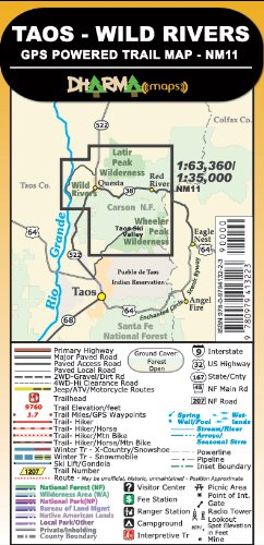 9780979413223: Taos Wild Rivers - GPS Powered Trail Map