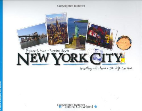 Postcards From New York City:P (Spanish and English Edition): Crawford, Laura