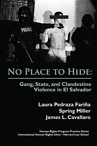 9780979639531: No Place to Hide: Gang, State, and Clandestine Violence in El Salvador (International Human Rights Program Practice Series)