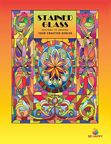 9780979694264: Stained Glass: Adult Coloring Book, Designs to Inspire Your Creative Genius