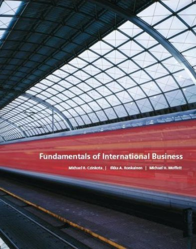Fundamentals of International Business: Czinkota, Ronkainen, Moffett