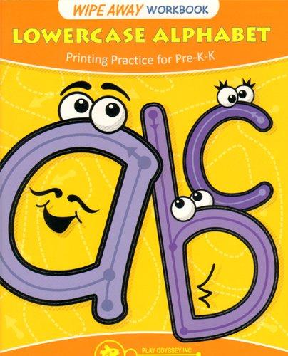 Lowercase Alphabet Wipe Away Workbook: Printing Practice for Pre-K-K: Gill, Meera