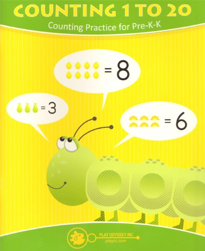 9780979944192: Counting 1 to 20 Wipe Away Workbook: Counting Practice for Pre-K-K