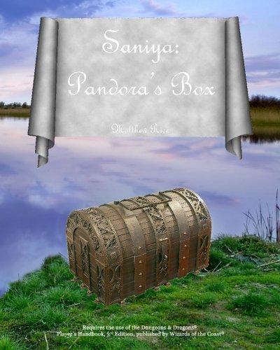 9780980054200: Saniya: Pandora's Box