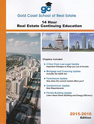 9780980133028: Gold Coast School of Real Estate - 14 Hour Real Estate Continuing Education