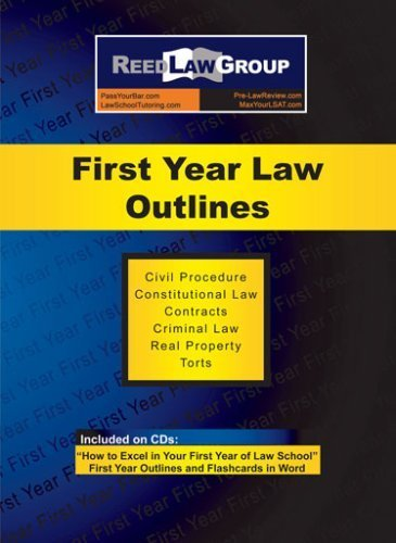 9780980143508: First Year Law Outlines (First Year Review Series)