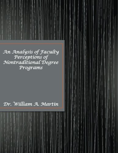 9780980217667: An Analysis of Faculty Perceptions of Nontraditional Degree Programs: Education, Nontraditional Degree Programs, Research, Dissertation