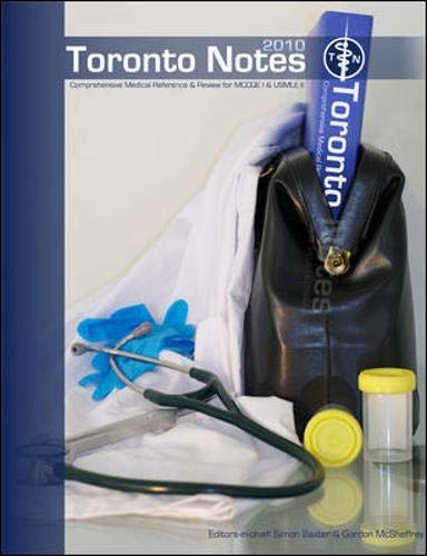 9780980939729: The Toronto Notes for Medical Students 2010