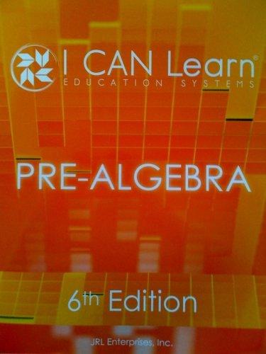 9780981532011: Pre-Algebra (I CAN Learn Education Systems)