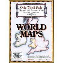 9780981552392: Olde World Style Modern and Ancient Maps in Black and White