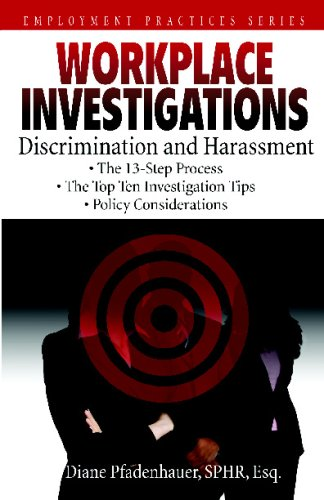 9780981583105: Workplace Investigations: Discrimination and Harassment: Volume 1 (Employment Practices)