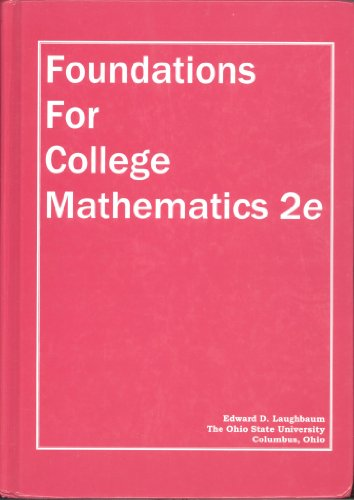 Foundations for College Mathematics, (with Student Edition Quizzes) 2nd Edition: Red Bank ...