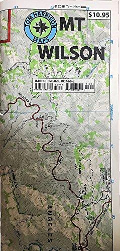 9780981834498: Mt. Wilson Trail Map (2013) (Tom Harrison Maps)