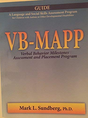9780981835617: VB-MAPP: Verbal Behavior Assessment and Placement Program, 2nd Edition