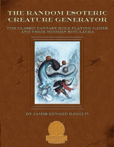 Random Esoteric Creature Generator: For Classic Fantasy: James Raggi