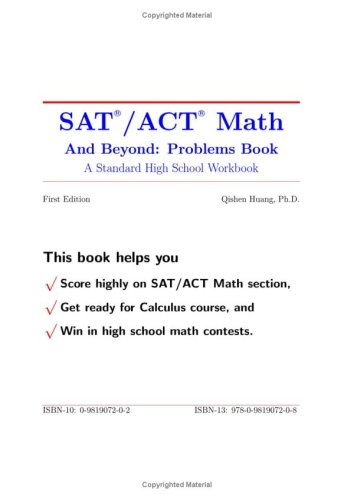 9780981907208: SAT / ACT Math and Beyond: Problems Book (A Standard High School Workbook, Volume 1)
