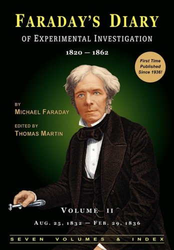 9780981908328: Faraday's Diary of Experimental Investigation - 2nd edition, Vol. 2