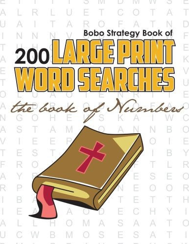 Bobo Strategy Book of 200 Large Print Word Searches: The Book of Numbers: Chris Cunliffe