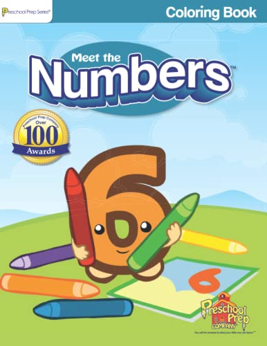 9780982033111: Meet the Numbers - Coloring Book