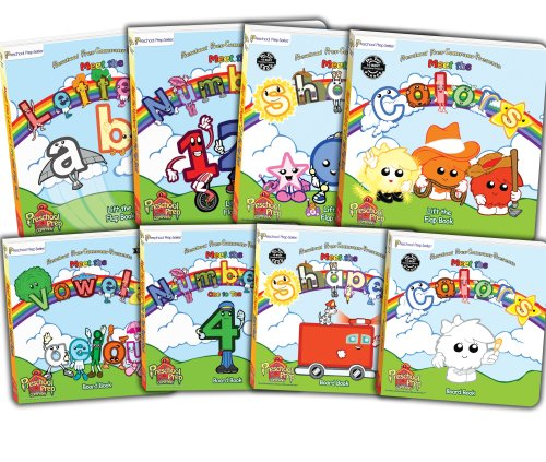 9780982033180: Preschool Prep Company Book Pack (Meet the Letters Lift the Flap,Meet the Numbers Lift the Flap,Meet the Shapes Lift the Flap, Meet the Colors Lift ... the Shapes Board Book, Meet the Colors Board)