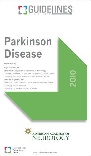 9780982112380: Parkinson Disease GUIDELINES Pocketcard: American Academy of Neurology (2010)
