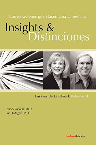 9780982160589: Conversaciones Que Hacen Una Diferencia: Insights y Distinciones-Ensayos de Landmark Volumen 1