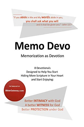 9780982161678: Memo Devo: Memorization as Devotion