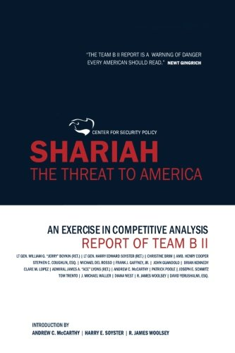 Stock image for Shariah: The Threat To America: An Exercise In Competitive Analysis (Report of Team B II) for sale by Your Online Bookstore