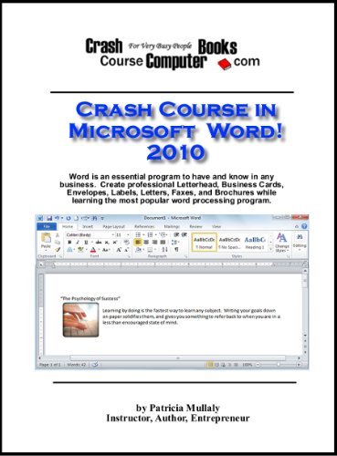 9780982304440: Crash Course in Microsoft Word 2010