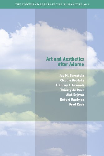 9780982329429: Art and Aesthetics After Adorno (Townsend Papers in the Humanities)