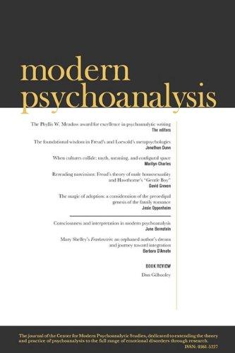 Modern Psychoanalysis, Volume 34, Number 1