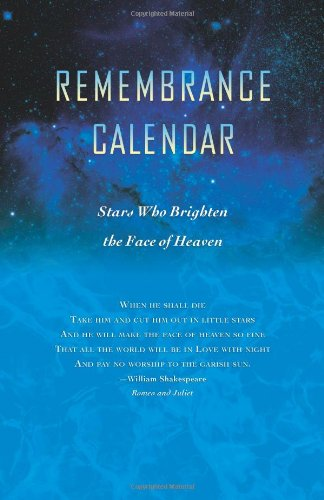 Remembrance Calendar - Stars Who Brighten The Face of Heaven: Judy Schreiber-Mosher