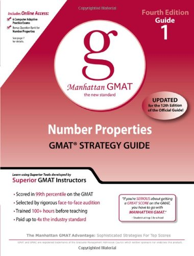 9780982423844: Number Properties GMAT Strategy Guide, 4th Edition (Manhattan GMAT Preparation Guides)