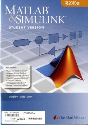 9780982583807: MATLAB & Simulink Student Version 2010a