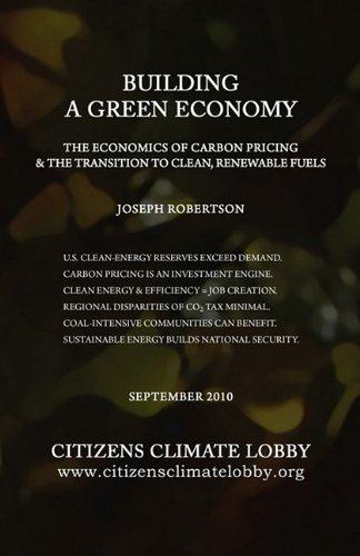 Building a Green Economy Robertson, Joseph