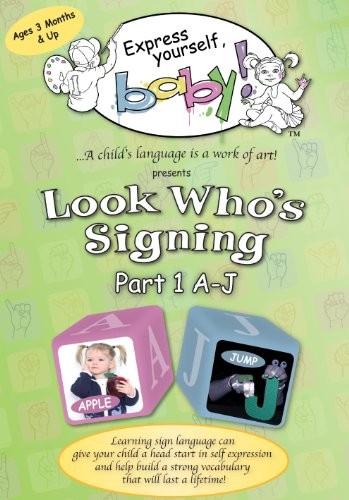 9780982714102: Look Who's Signing (Part 1 A-J) a DVD teaching children American Sign Language